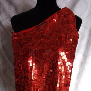 VTG 52 Weekends single shoulder top L NWOT